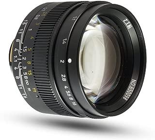 7artisans 50mm F1.1 Large Aperture Manual Focus Prime Fixed Lens for Leica M Mount Cameras M-M, M240, M3,M5,M6,M7,M8,M9,M9P,M10 (Black)