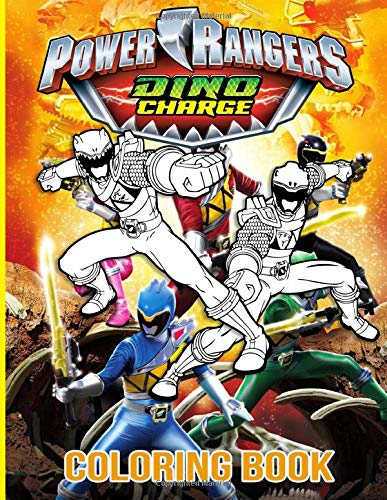 Power Rangers Dino Charge Coloring Book: Color To Relax Coloring Books For Adults And Kids (Activity Book Series)
