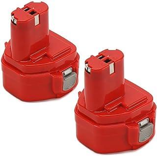 2 pieza 12.0 V 2000 mAh 12V2.0Ah Batería de Ni-Mh (Rojo) batería de repuesto Herramientas batería para Makita Herramienta eléctrica batería de repuesto 12 V 2.0 ah1222 1220 1200 1230 1233 1234 1235