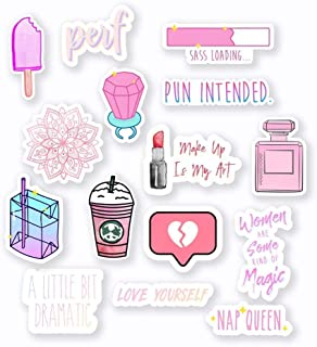 "Pink Sticker Mega Pack - 3"" Vinyl Stickers - 15pcs"