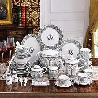 Service de Table Porcelaine Chine Arts de la table Costume os style européen Creative Coupes de combinaison de luxe Vaisse...