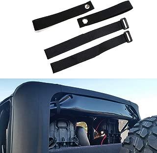 BOXATDOOR Durable Tie Down Straps Soft Top Straps for 2007-2018 Jeep Wrangler JK £¨4 pack£