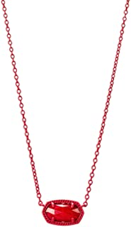 Womens Elisa Necklace Matte/Red/Red/Mother-Of-Pearl One Size