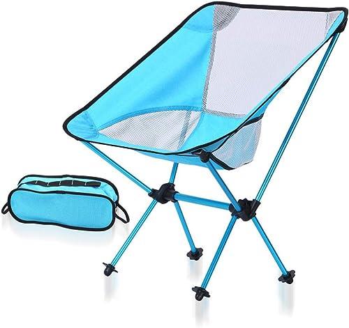 LLEH Chaise de Camping portable, Chaise de Camping Pliante pour Le Camping Chaise de Jardin pour Le Camp en Plein air, la Plage, Le Pique-Nique, Le Festival, la randonnée, la pêche