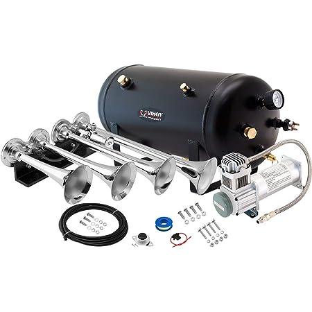 Train//Air Horn Tank with 200 PSI Compressor Onboard System//Kit 12V VXO8350B 18 Liter Vixen Horns 5 Gallon