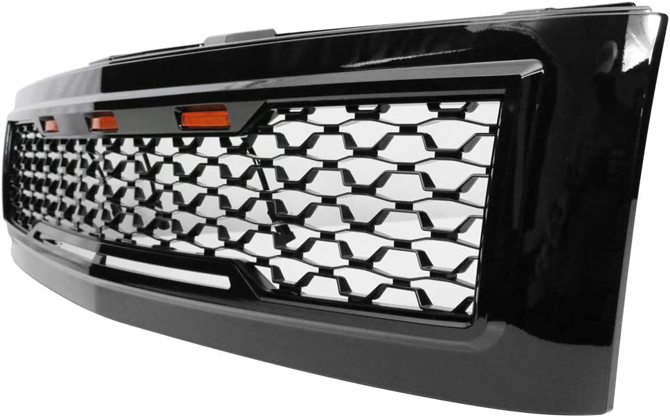 IKON MOTORSPORTS Grille Compatible With Sil Max 42% OFF Bargain sale 2007-2013 Chevrolet