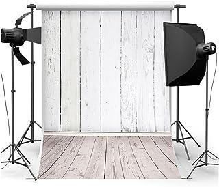 5x 7ftホワイト木製テーマGradeAAAAA Studioフォト写真背景StudioバックドロップProps Best for Personal写真、壁の装飾、ベビー、子供、Kids、新生児フォト