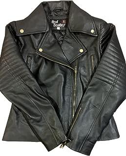 Agents Returns Women Black Leather Jacket