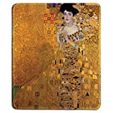 dealzEpic - Art Mousepad - Natural Rubber Mouse Pad with Famous Fine Art Painting of Portrait of Adele Bloch-Bauer I by Gustav Klimt - Stitched Edges - 9.5x7.9 inches