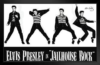 Pyramid America Elvis Presley Jailhouse Rock Black Wood Framed Art Poster 14x20