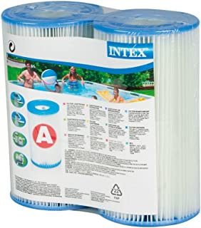 Intex RC65i White Type A Filter Cartridge for Pools, Twin Pack