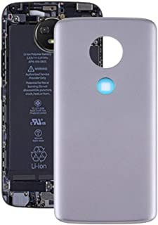 Mobile Phones Communication Accessories Battery Back Cover for Motorola Moto E5 (Color : Grey)