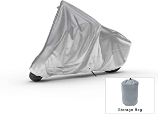Weatherproof Motorcycle Cover Compatible With 2019 Kymco Super 8 50x - Outdoor & Indoor - Protect From Rain Water, Snow, Sun - Built In Reinforced Securing Straps - Durable Material - Free Storage Bag