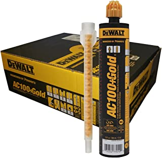 10 oz. Dewalt AC100+ Gold Quik-Shot Acrylic Epoxy Adhesive Anchoring System (Case of 12)