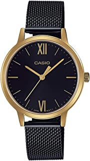 CASIO Mesh Stainless Steel Band Analog Watch for Women - Black