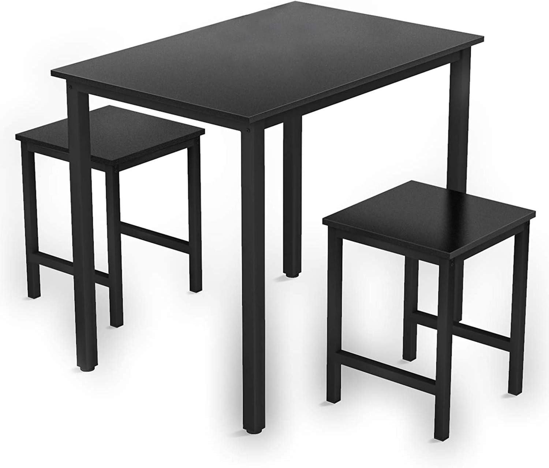 賜物 Recaceik 3 Pieces Dining 2020春夏新作 Set Kitchen Table and Chairs for Pe 2