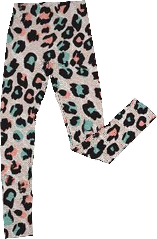Wocachi Workout Leggings for Women, High Waist Butt Lifting Leopard Print Running Yoga Pants Gym Fitness Tights Pants
