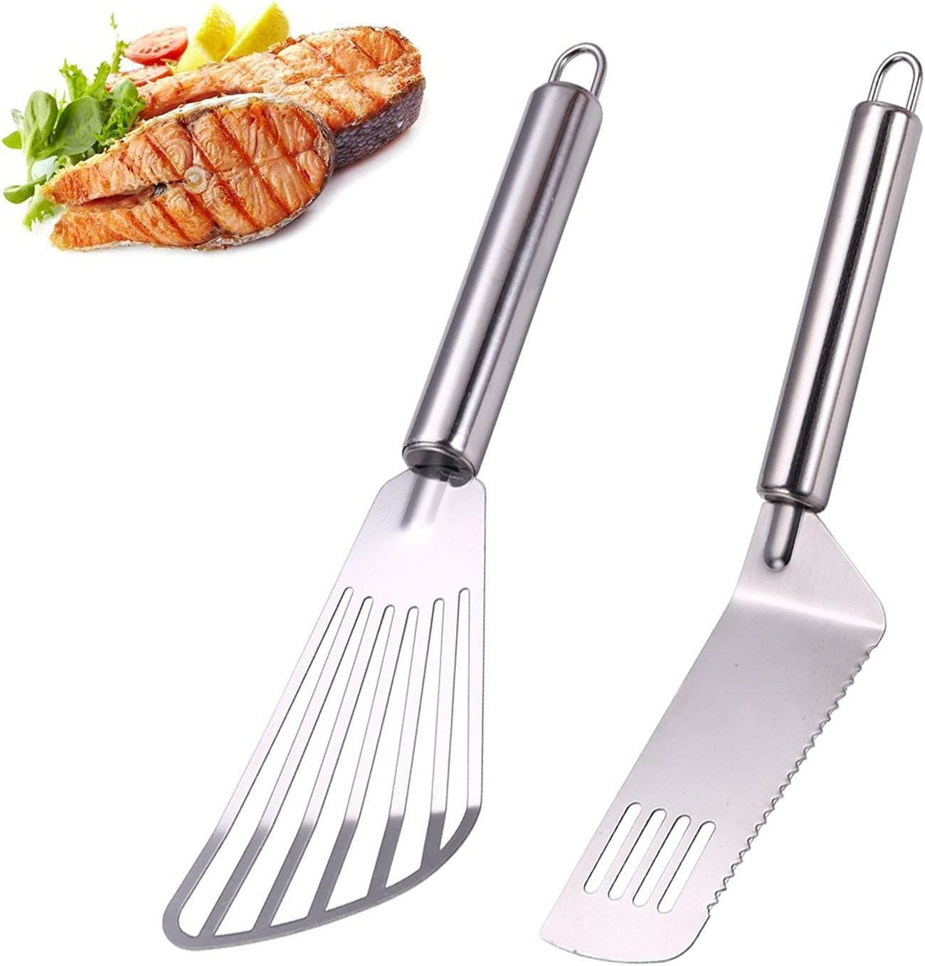 Ardanlingke Fish Regular discount Spatula 2 Pack Spatulas Stainless Steel 1 Courier shipping free shipping Set