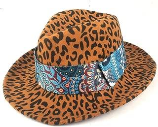 Fedora Cap Men Women Panama Wide-Brimmed Ribbon Cap Fedora Hat Wool Polyester Jazz Winter Formal Banquet Cap Felt hat (Color : Yellow, Size : 56-58cm)