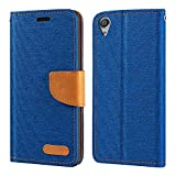 Sony Xperia XA Ultra Case, Oxford Leather Wallet Case with Soft TPU Back Cover Magnet Flip Case for Sony Xperia C6