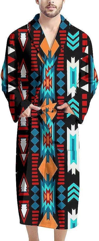 NDISTIN Personalized Bathrobe Graphics Fashion Shawl Collar Robes for Men Women Couple Wedding Sleepwear Kimono Loungewear Spa Pajama Party Fleece Robe Lightweight Soft Plush Warm Bathrobes, Red