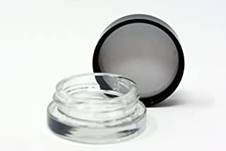 Saucy diamond brand, 90pcs, 7ml thick bottom for waxes oils completely airtight,  90pc per flat, low profile, clear