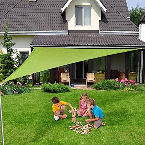 XISENOCI Toldo de protección Solar, Triangular, para Exteriores, Piscinas, jardín, Patio, toldo de protección Solar 95{6d6c8d76db52947a8fca857a8b32c7a12fa7bfce6504a85a7902d56283735b45} Anti-UV Impermeable, Varios tamaños, fácil Limpieza con Cuerda Libre, verde-3x3