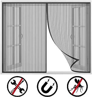 Mosquitera magnética para puerta y ventana. Se cierra automáticamente y es fácil de instalar, color blanco, beige