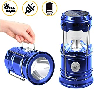 Suntop Lampara de Camping, Faroles Portátiles LED Lámpara Exterior Plegable - Bateria Cargada - Impermeable para Camping,Luz de Emergencia,Pesca,Senderismo,Exterior e Interior
