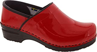 Bjork PRO ELSA Red Patent Leather Clogs
