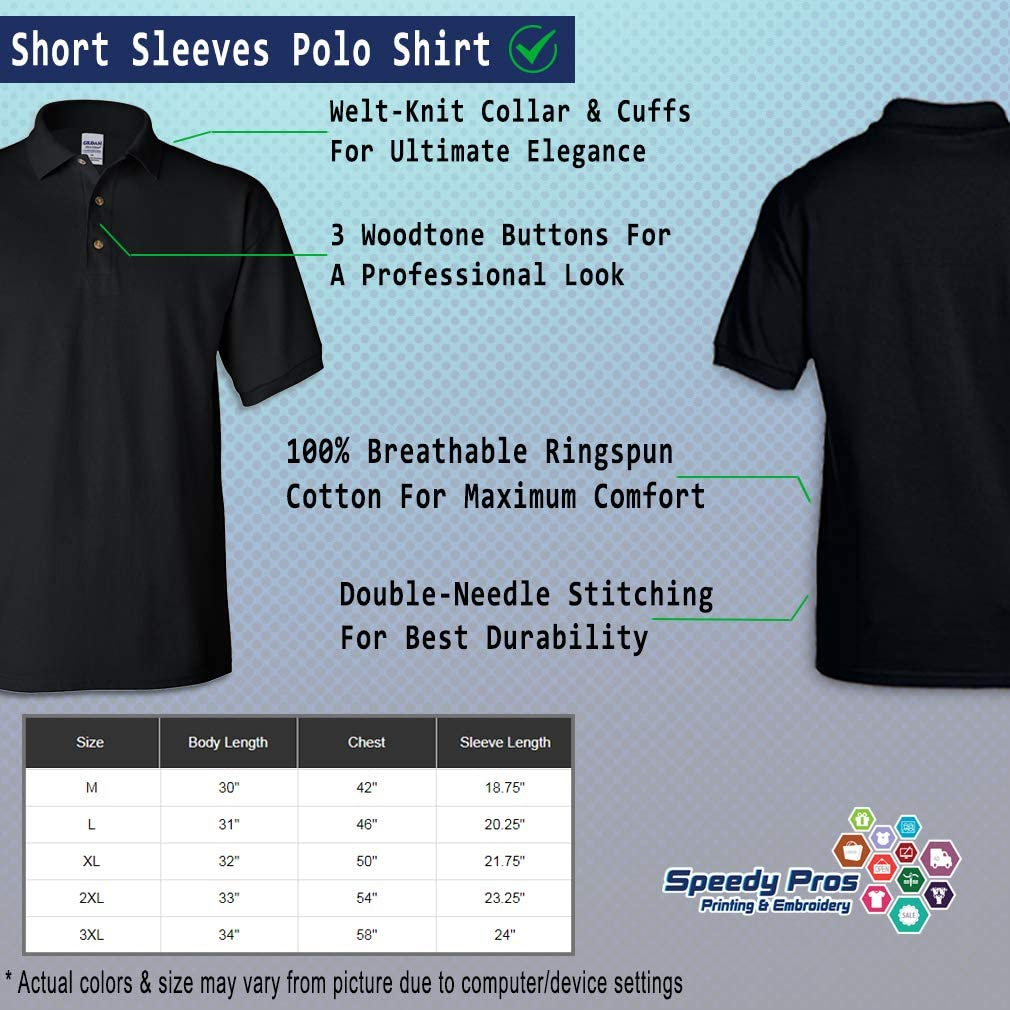 Speedy Pros Polo Shirts for Men Kc-10 Id Rather Be Flying Embroidery Cotton