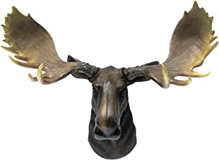 Wall Mount North American Moose Bust Man Cave/Cabin/Lodge Fake Taxidermy Decor