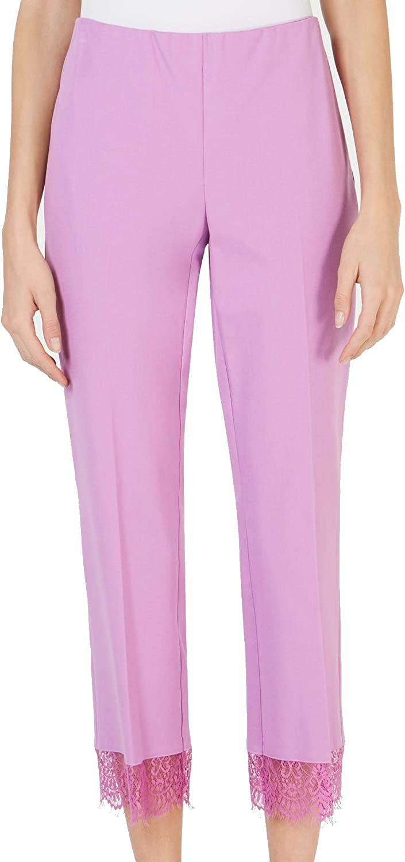 Alfani Womens Comfort Waist Lace Ankle Pants