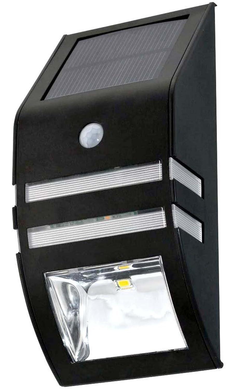 コンドーム沿って休眠ソーラー 人感 センサー 玄関 照明 LED ライト 【ブラック】