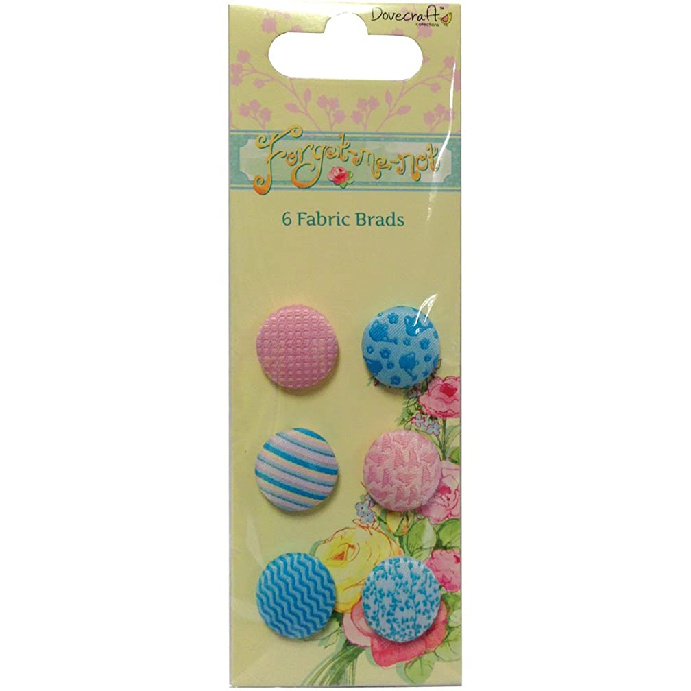 Trimcraft Forget-Me-Not Fabric Brads