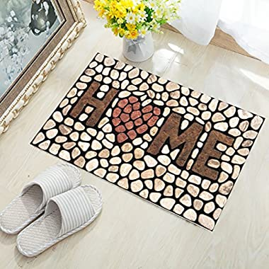 KAROLA Indoor Doormat Welcome Mat Low Profile Front Door Mat Home Decor Non Slip Entryway Rug Inside Shoe Scraper Floor Carpet 18  x 30