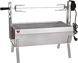 """Beeketal """"SGB-8"""" Tisch Spießbratengrill mit Grillmotor für Hähnchen oder Rollbraten, Spießgrill mit 3-fach verstellbarem Drehspieß für bis zu 4 kg Grillgut, Grillfläche Holzkohlegrill: ca. 60x32 cm"""