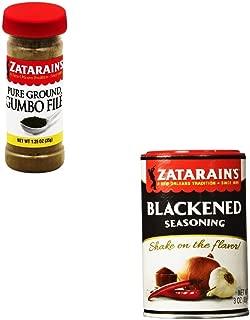 Zatarains Seasoning Gumbo File and Zatarains Shaker Blackend Seasoning 2 Pack