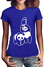 Womens Panda Tee Casual Girls Plus Size Print Shirt Short Sleeve T Shirt Blouse Tops