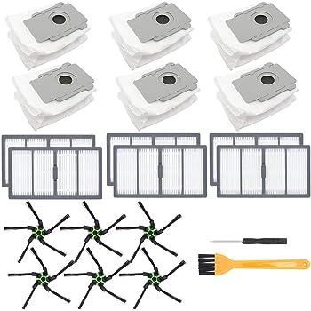6 Bolsas de eliminación de Suciedad automáticas de Base Limpia para iRobot Roomba i7 i7 + /Plus s9 +/Plus E5 E6 E7 Kit de Accesorios para aspiradora: Amazon.es: Hogar