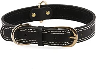 GVGs Shop 1 Pack Classic Cow Leather Pet Collar Small Large Dog Dogs Animals Necklace Soft Elastic Bow Bell Tag Extreme Popular Extra Wide Reflective Safety Breakaway Training Camo Kitten Cat Collars