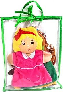 EQD 5pc Goldilocks & 3 Bears Story Hand Puppets Set