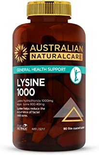 Australian NaturalCare Lysine 1000 Cold Sore Relief 90 Tablets, 90 count, Pack of 90