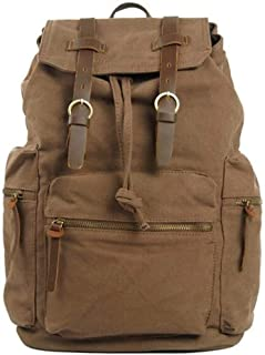 Stylish Color Life Hiking Backpack Multi-Function Pocket and Zip Pocket (Color : Brown, Size : S)