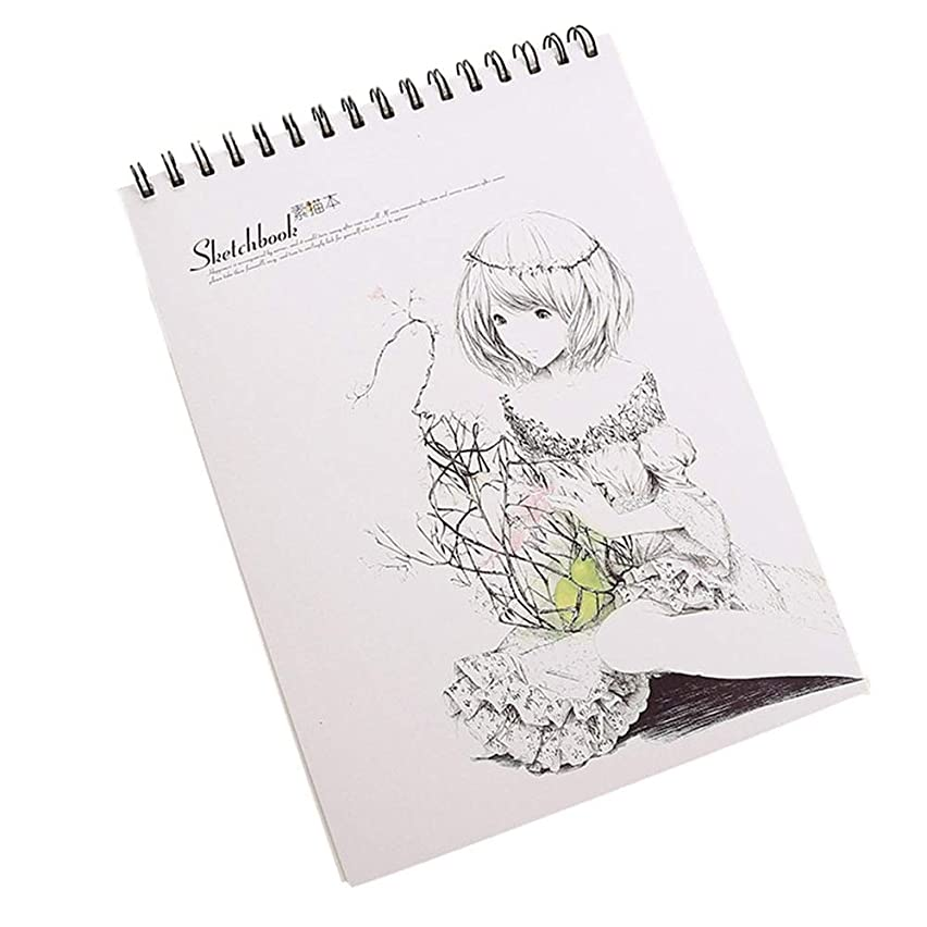 50 Sheet Sketch Book 11.4x8.6-Inch Top Spiral-Bound Sketchpad for Artist Sketching and Drawing Paper Smooth Sketchbook Acid Free Paper for Drawing Painting