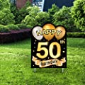 Yangmics Direct 50th Birthday 1970 - Outdoor Lawn Sign - Yard Sign - 1 Piece -Green
