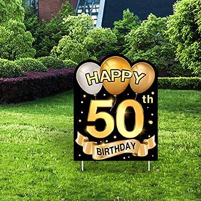 Yangmics Direct 50th Birthday 1970 - Outdoor Lawn Sign - Yard Sign - 1 Piece -Green