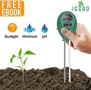 3 in 1 Soil Tester with Soil Moisture Meter Soil pH Meter and Sunlight Sensor, Soil Testing Kit for Garden, Farm, Lawn Promote Indoor or Outdoor Plants Healthy Growth