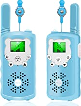 XBUTY Walkie Talkies for Kids - 22 Channels 2-Way Radio with 3 Mile Long Range and Clear Voice Technology, Kids Toys with BPA-Free ABS, Easy to Use, Best Gift for Kids, 2 Pack (Blue)
