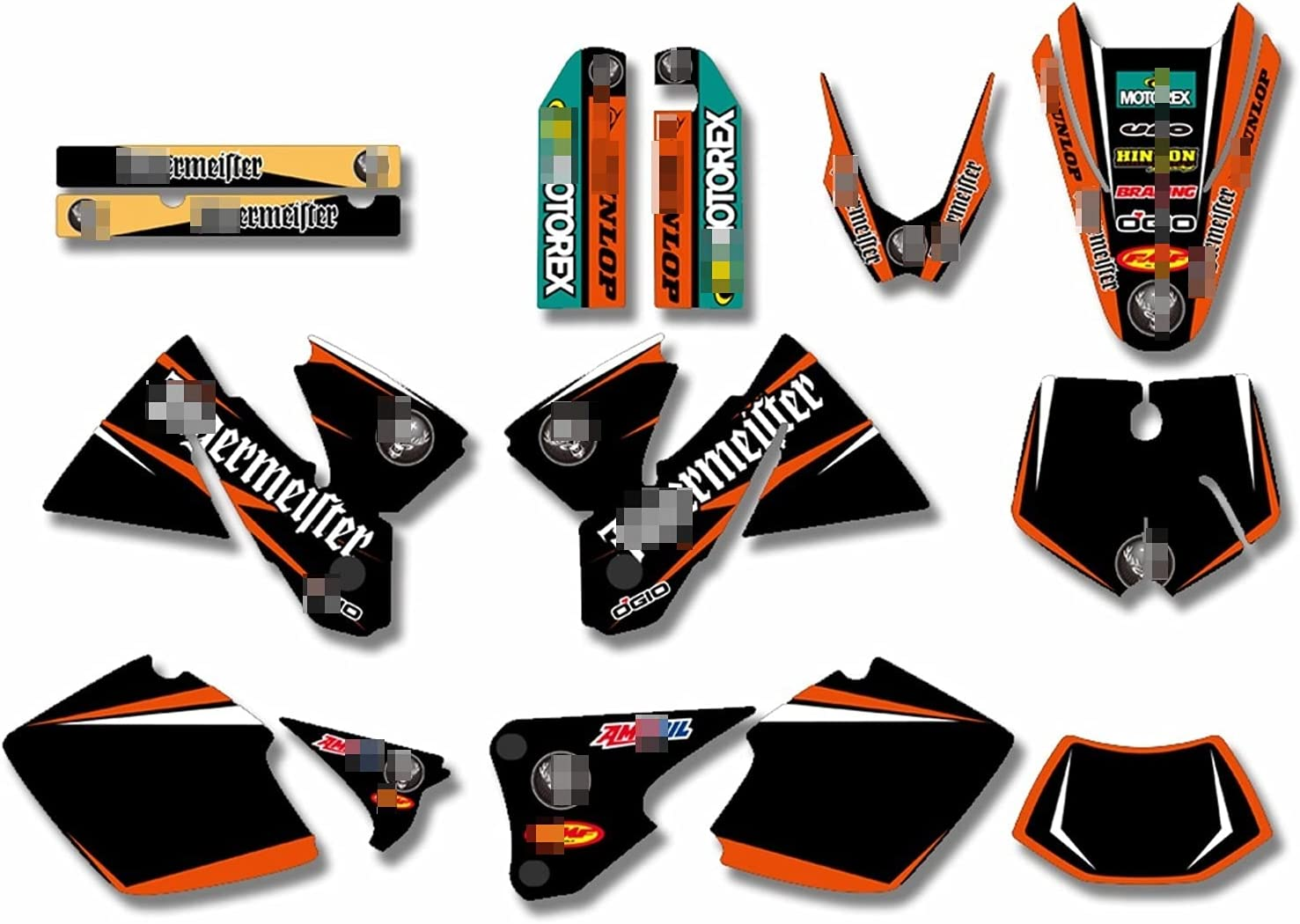 OFFicial CSMDELAY Motorcycles Team Matching Stickers C Graphic Background Spring new work